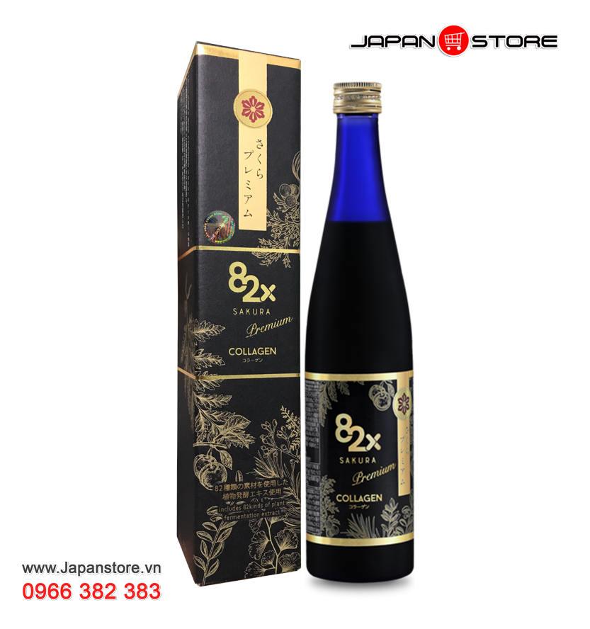 Collagen 82X Sakura Premium 120000mg, chai 500g 1
