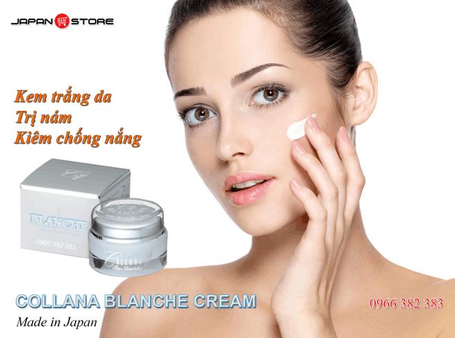 Collana Blanche Cream-Kem trang da, tri nam, chong nang 1