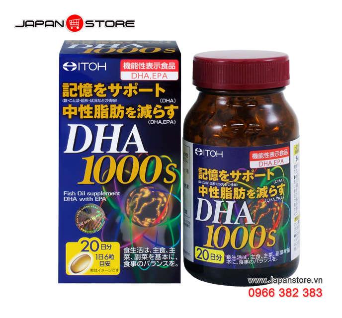 DHA 1000s-Viên uống bổ não DHA 1000s ITOH Nhật Bản 2