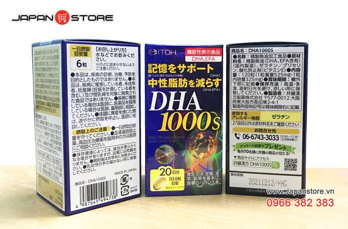 DHA 1000s-Viên uống bổ não DHA 1000s ITOH Nhật Bản 5