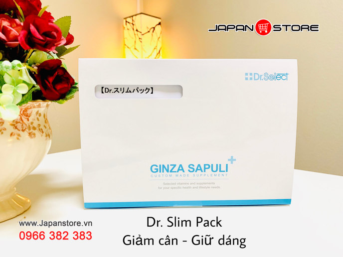 Ginza Sapuli Dr Slim pack - Viên uống giảm béo của Dr select 001