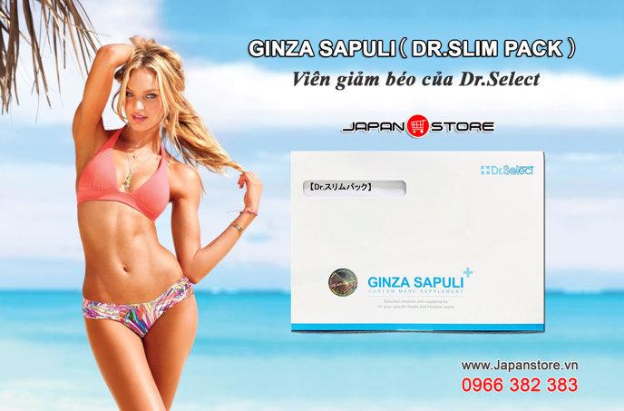Ginza Sapuli Dr Slim pack - Viên uống giảm béo của Dr select 002