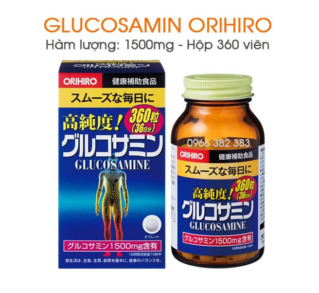 Glucosamin Orihiro 1500mg 900 viên Nhật Bản hỗ trợ điều trị xương khớp 5