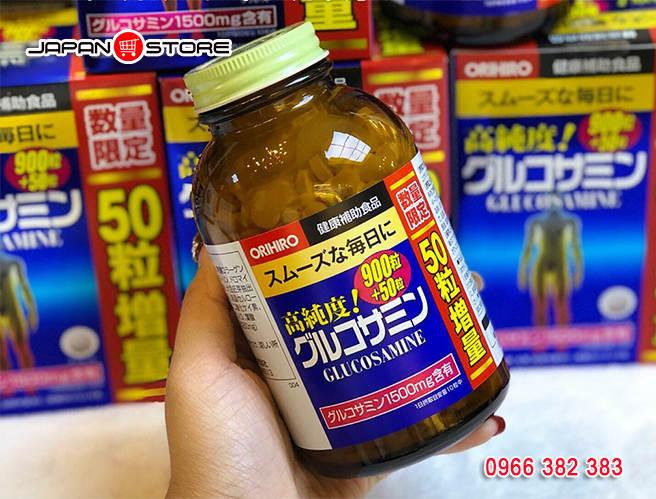 Glucosamin Orihiro 1500mg 900 viên Nhật Bản hỗ trợ điều trị xương khớp 6