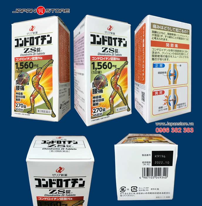 Japanstore,vn -Thuốc xương khớp Người Nhện ZS Nhật Bản Chondroitin ZS 1560mg 1