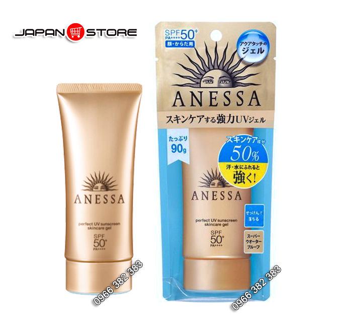 Kem chống nắng ANESSA Shiseido SPF50 vàng 90g -4