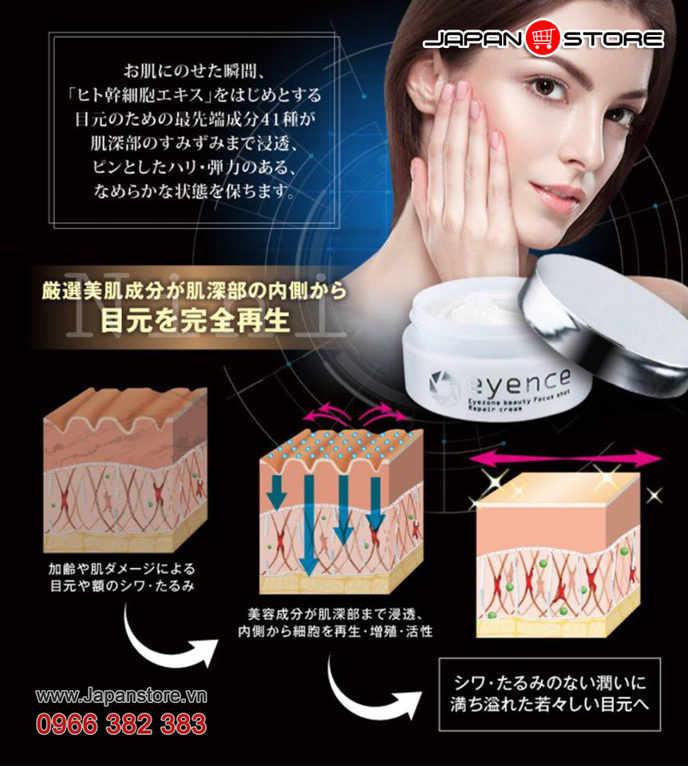 Kem dưỡng da vùng mắt Eyence - Eyezone beauty Focus shot Repair cream 3