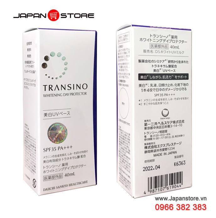 Kem trắng da ban ngày kiêm chống nắng TRANSINO Whitening Day Protector 40ml -5