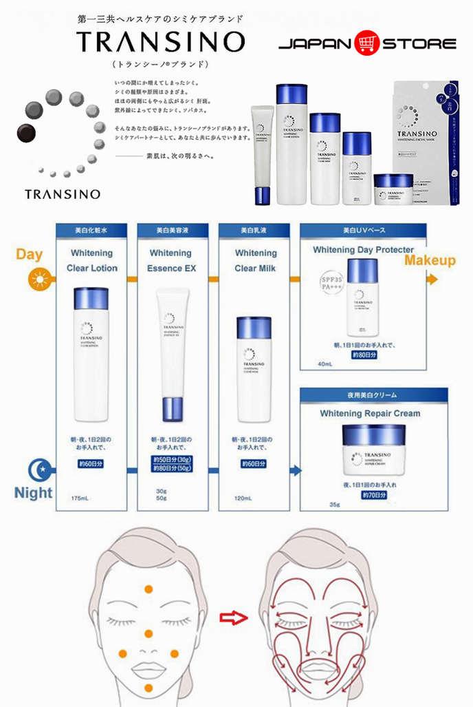 Kem trắng da ban ngày kiêm chống nắng TRANSINO Whitening Day Protector 40ml 8