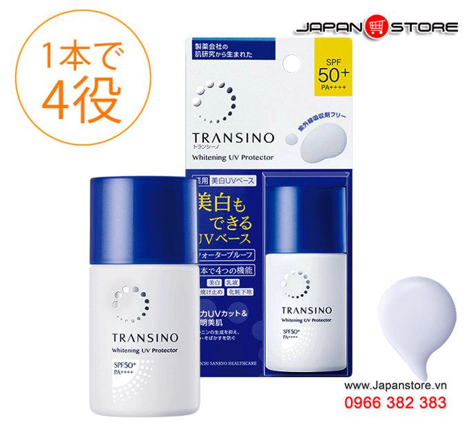Kem trắng da chống nắng Transino UV Protector SPF 50+ PA++++ (30ml) mẫu mới 2020