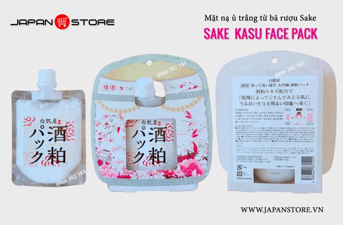 Mặt Nạ Ủ Trắng Sake Kasu Face Pack 2-2