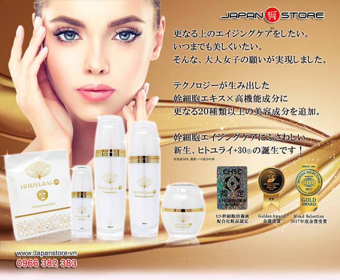 Mỹ phẩm tế bào gốc Hitoyurai +30 Nhật Bản 01