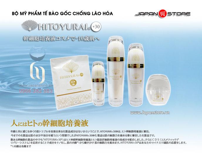Mỹ phẩm tế bào gốc Hitoyurai +30 Nhật Bản 11