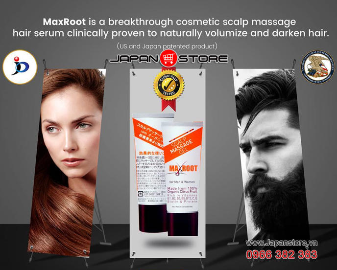Maxroot Gel mọc tóc Maxroot Nhật Bản 4