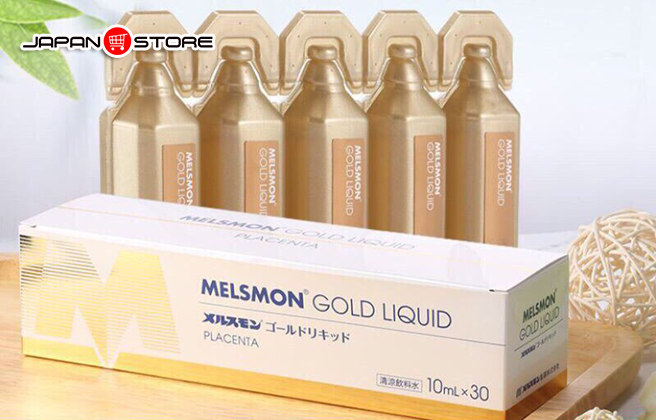 Melsmon Gold Liquid - Nuoc uong nhau thai Melsmon Gold Liquid 3