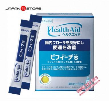 Men vi sinh Bifina S Health Aid 30 gói của Nhật Bản 1
