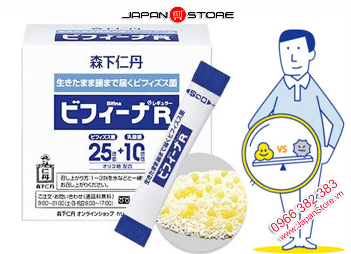 Men vi sinh Bifina S Health Aid 30 gói của Nhật Bản 8