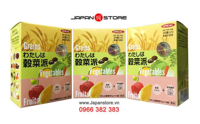 Ngũ cốc dinh dưỡng Unical Grains Vegetables Fruits Nhật Bản - Japanstore.vn _4