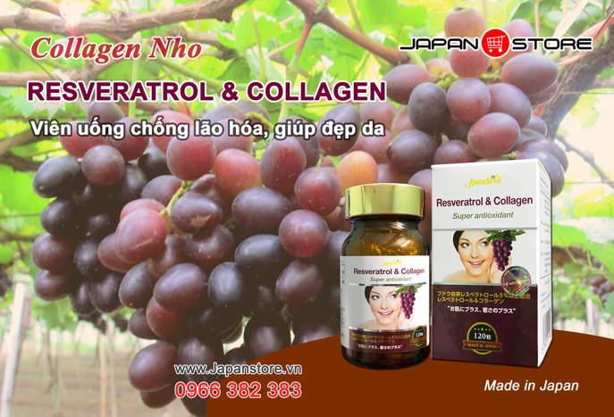 RESVERATROL & COLLAGEN - Collagen Nho chính hãng 1-3