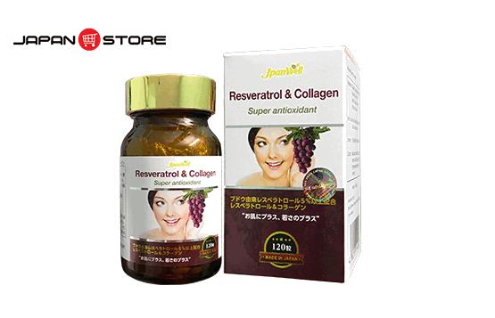 RESVERATROL & COLLAGEN - Collagen Nho chính hãng Nhật Bản