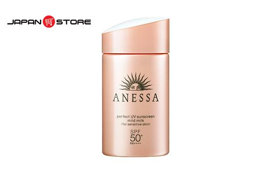Sữa chống nắng cho da nhạy cảm Anessa perfect UV sunscreen mild milk-JAPANSTORE-VN