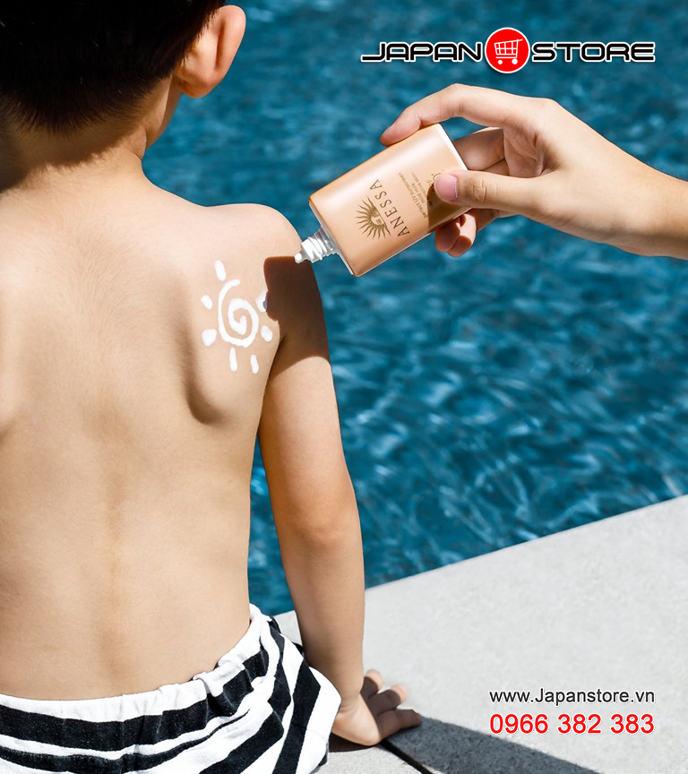 Sữa chống nắng cho da nhạy cảm Anessa perfect UV sunscreen mild milk SPF 50+ PA++++ -JAPANSTORE-VN_03