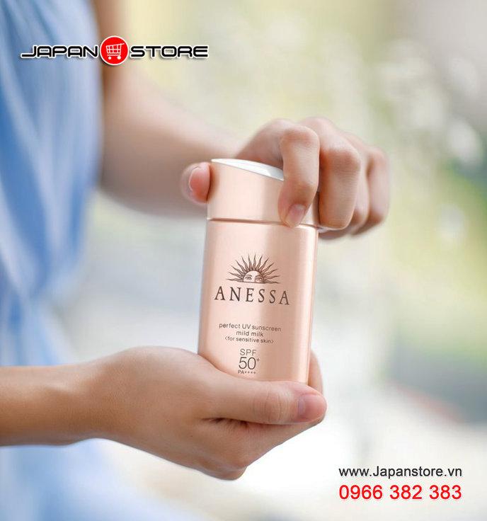 Sữa chống nắng cho da nhạy cảm Anessa perfect UV sunscreen mild milk SPF 50+ PA++++ -JAPANSTORE-VN_04
