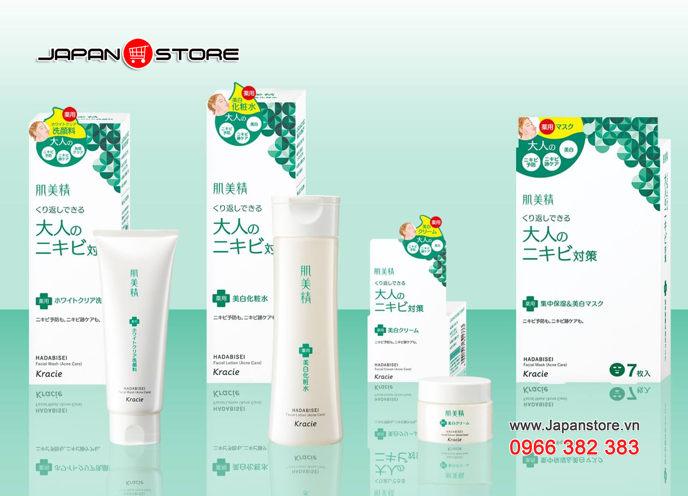 Sữa rửa mặt trị mụn Kracie Hadabisei Facial Wash (Acne Care) Chính hãng Kracie Nhật Bản 4