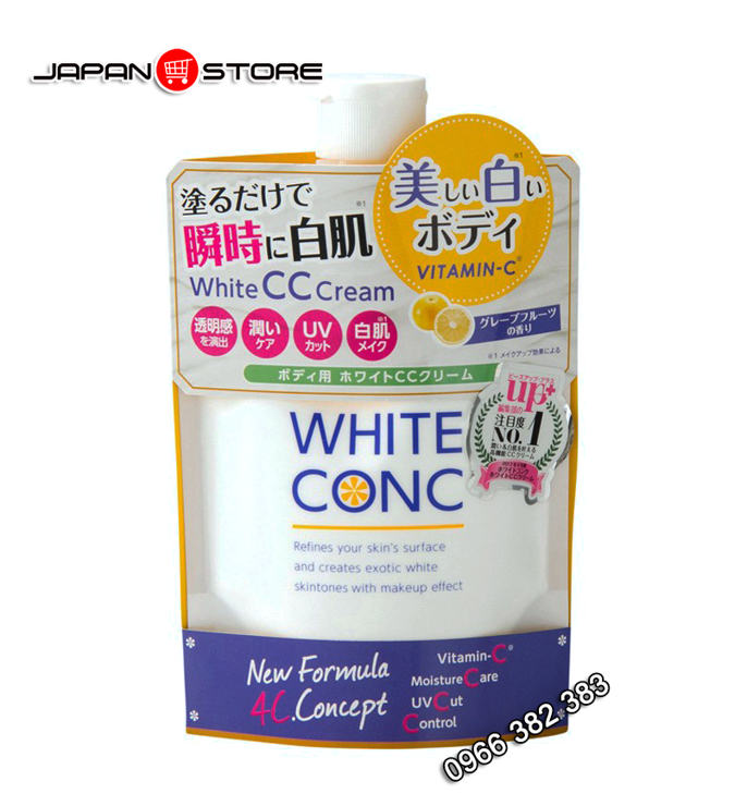 Sua duong the White Conc White CC Cream dung ban ngay