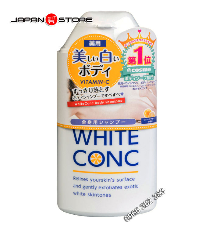 Sua tam trang White Conc Body Shampoo 360ml 1
