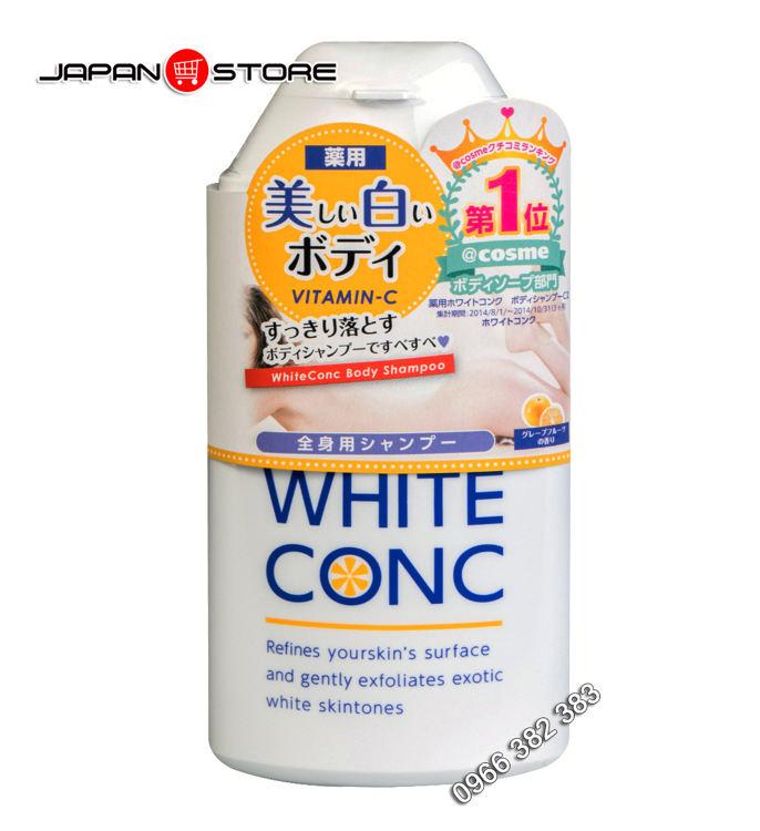 Sua tam trang White Conc Body Shampoo 360ml 1