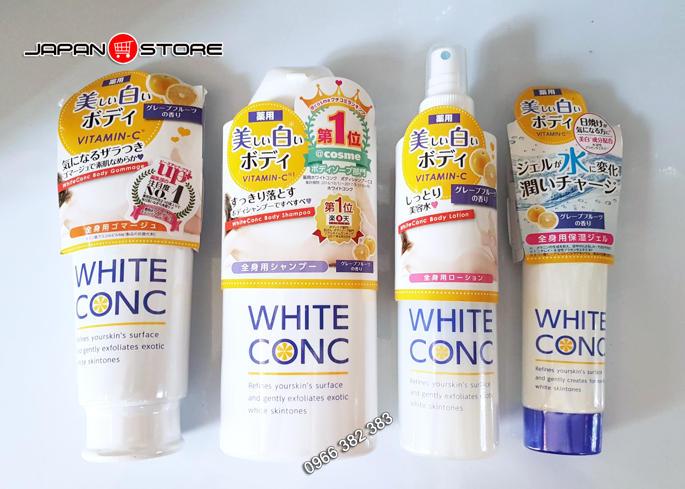 Sua tam trang White Conc Body Shampoo 360ml 4