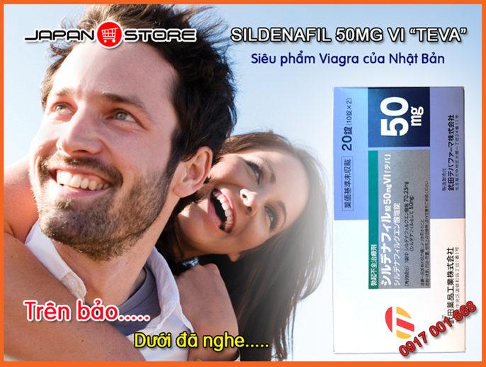 Thuoc cuong duong, tang cuong sinh ly nam Sildenafil 50mg VI TEVA (Viagra) 3