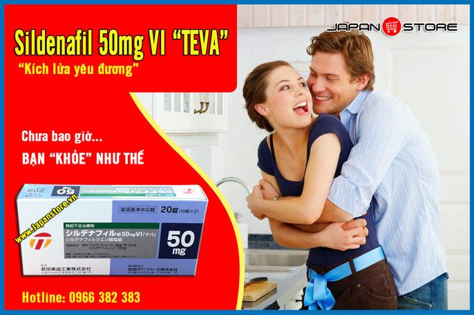 Thuoc cuong duong, tang cuong sinh ly nam Sildenafil 50mg VI (Viagra) TEVA 1
