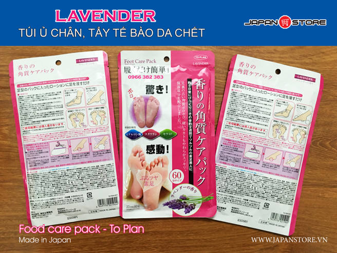 Tui u chan Lavender tay te bao da chet Food care pack - To Plan-2