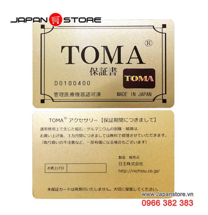 Vòng huyết áp Toma đeo cổ Nữ Nhật Bản chính hãng 05