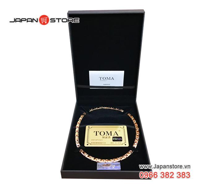 Vòng huyết áp Toma đeo cổ Nam (Toma 9MF- Chấm Vàng)- 01