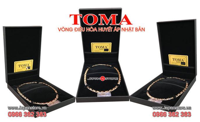 Vòng huyết áp Toma đeo cổ Nam (Toma 9MF- Chấm Vàng) -03