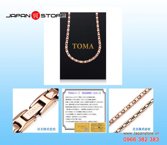 Vòng huyết áp Toma đeo cổ Nam (Toma 9MF- Chấm Vàng)-05