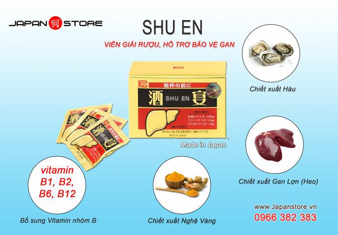 Viên giải rượu Shuen ( Shu en ) Nhật Bản 2
