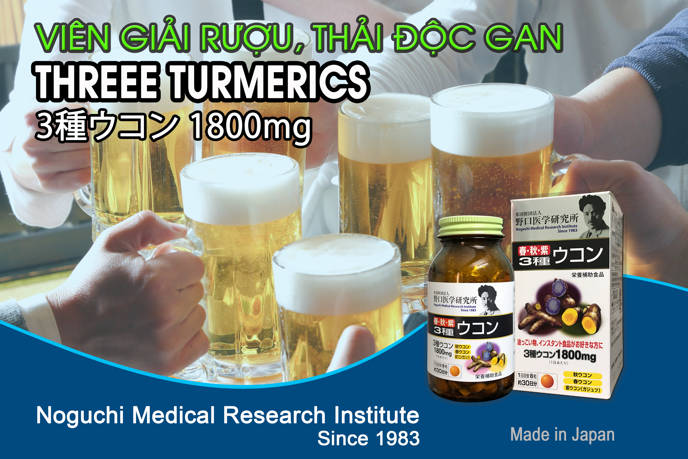 Viên giải rượu, thải độc gan Three Turmerics 4
