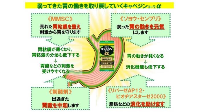 Viên uống hỗ trợ điều trị bệnh đau da dày Kyabejin Kowa α Nhật Bản 300v- www.Japanstore.vn 01