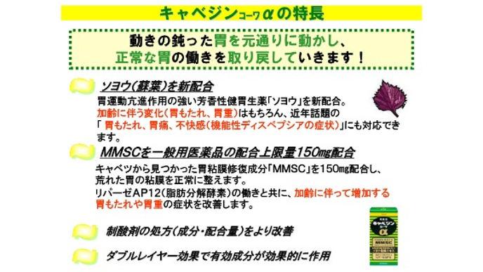 Viên uống hỗ trợ điều trị bệnh đau da dày Kyabejin Kowa α Nhật Bản 300v- www.Japanstore.vn 06