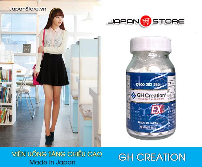 Viên uống tăng trưởng chiều cao GH Creation EX 270 viên Nhật Bản 6