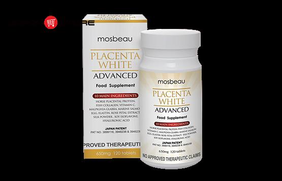 Viên uống trắng da trị nám Mosbeau Placenta White Advanced chính hãng