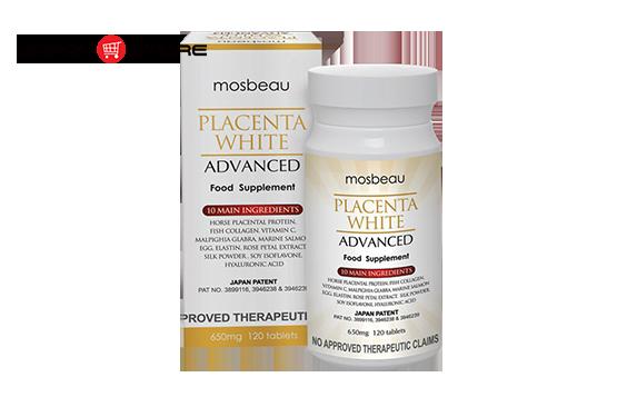 Viên uống trị nám Mosbeau Placenta White Advanced Trắng Da