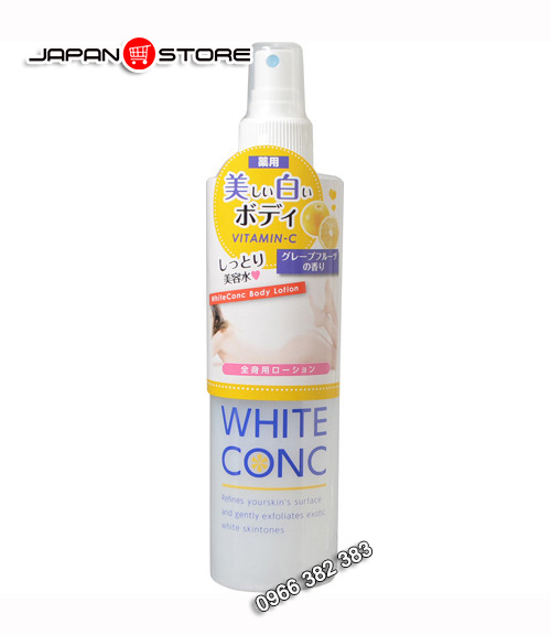 Xịt khoáng White Conc Body Lotion Vitamin C 145ml dưỡng trắng da 1