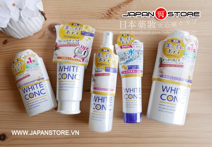 Xịt khoáng White Conc Body Lotion Vitamin C 145ml dưỡng trắng da 2