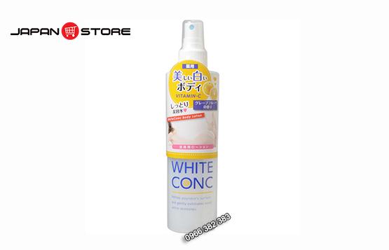 Xịt khoáng White Conc Body Lotion Vitamin C 145ml dưỡng trắng da